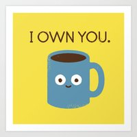 evil Art Prints featuring Coffee Talk by David Olenick
