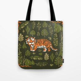 Tiger in forest Tote Bag