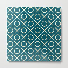 tic tac toe game pattern Metal Print