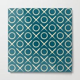 tic tac toe game pattern Metal Print