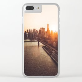 nyc aerial view Clear iPhone Case