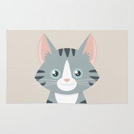 Grey Tabby Cat Rug