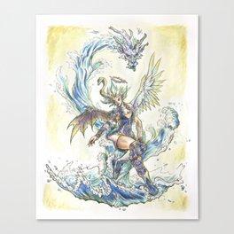 Water Dragon Master Canvas Print