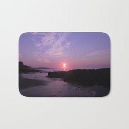 Purple Beach Sunrise Bath Mat