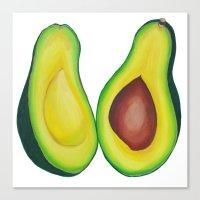 avocado Canvas Prints featuring Avocado by marlene holdsworth