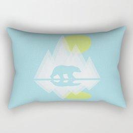 Polar Bear Abstract icecap Landscape Surrealism Art Rectangular Pillow