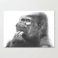 gorilla Canvas Prints featuring Gorilla by Nasir Nadzir