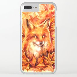 Foxy Autumn Clear iPhone Case