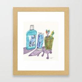 daily teeth care. Framed Art Print