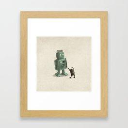 Robot Vs Alien Framed Art Print