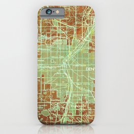 12-Denver Colorado 1958, America cities maps iPhone Case