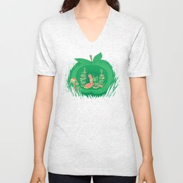 The Bookworm's Haven Unisex V-Neck