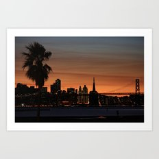 city by the bay  Art Print