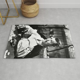 Clark Gable Playing Poker Retro Vintage Art Rug