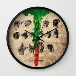 thug,stoner,young,life,slime language,music,rap,album art,fan art,cool,wall art,poster,painting Wall Clock