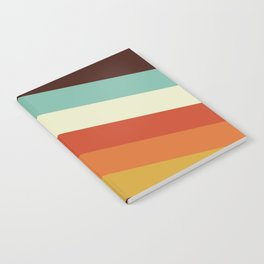 Renpet - Colorful Classic Abstract Minimal Retro 70s Style Stripes Design Notebook