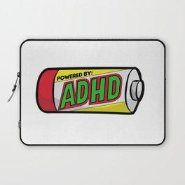 POWERED BY ADHD impulsivitiy hyperfocus impulse Laptop Sleeve