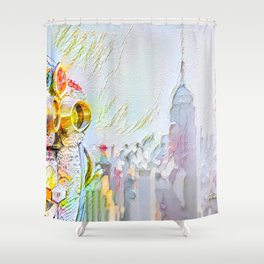 New York Colore Shower Curtain