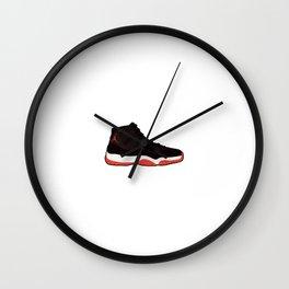 Jordan 11 Bred Wall Clock