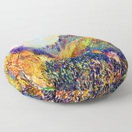 Camille Pissarro Mardi Gras Floor Pillow