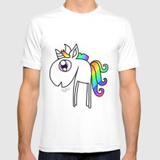 UNICORN Mens Fitted Tee White MEDIUM