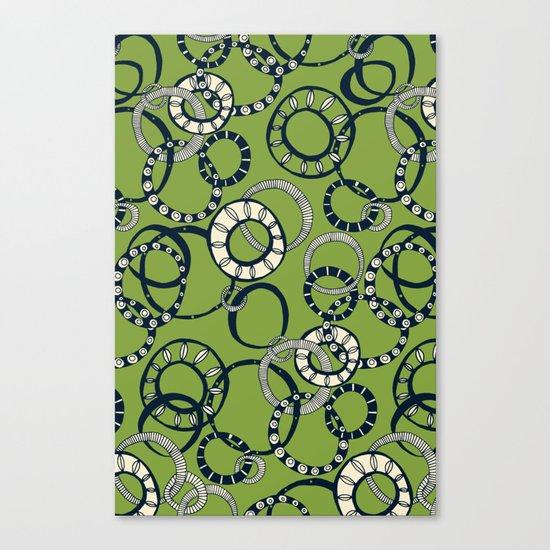 Honolulu hoopla green Canvas Print