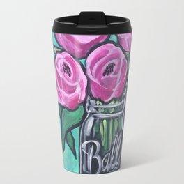 Beautiful Pink Bouque Travel Mug