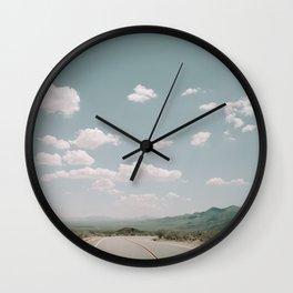 THE ROAD THROUGH THE DESERT Wall Clock