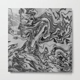 Oceans Noir Metal Print