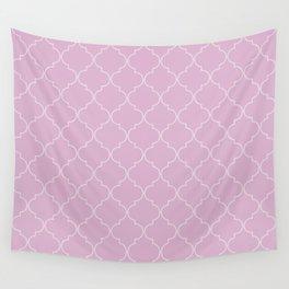 Pink Lavender Quatrefoil Wall Tapestry