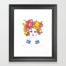 Tulips and Handbags Fashion Art  Framed Art Print