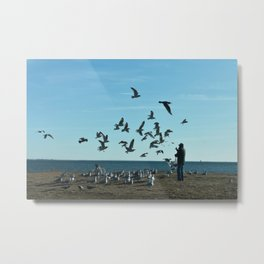 Feed Time Metal Print