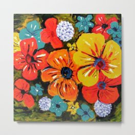 Bright Floral Metal Print