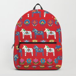 Dala Folk Red Backpack
