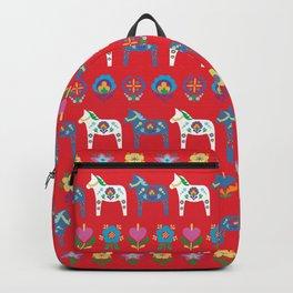 Dala Folk Red Backpack