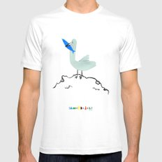 Gavina Seagull MEDIUM White Mens Fitted Tee