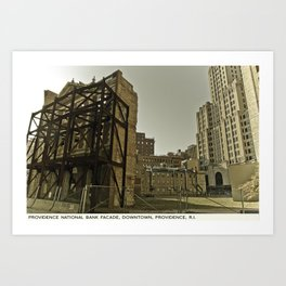 Providence Postcard Project: Providence National Bank Facade, Downtown.  Art Print