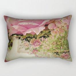 Teacups and Roses 2 Rectangular Pillow