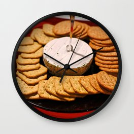 Cheese and Crackers Wall Clock