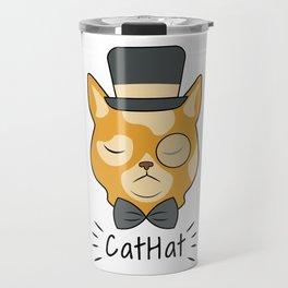 Cat Hat Arrogant Animal Love Pet Gift Travel Mug