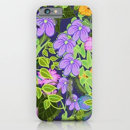 Floral Garden Wall iPhone Case