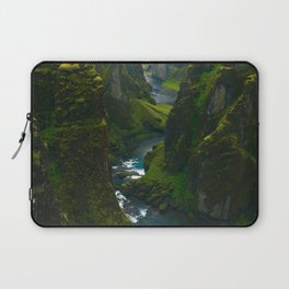 River in the Valley (Color) Laptop Sleeve