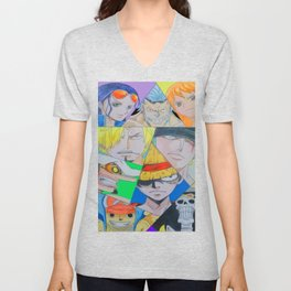 one piece all crew drawing Unisex V-Neck