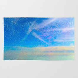Frosty Window Above Clouds Rug
