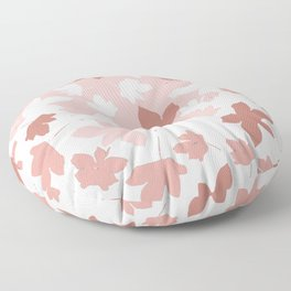 Positive Mood. pink. white. brown. Floor Pillow