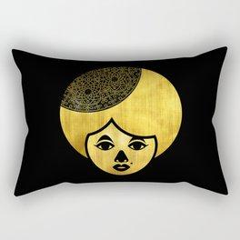 Golden Bronze Girl Rectangular Pillow