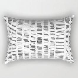 Digital Stitches detail 1 white Rectangular Pillow