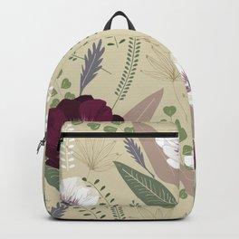 Anemones & leaves Backpack