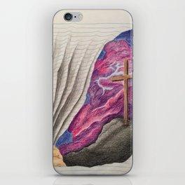 3D Paper Torn Cross iPhone Skin