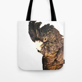 Black cockatoo illustration Tote Bag